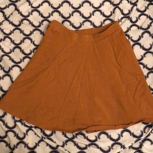 Mustard orange skater skirt